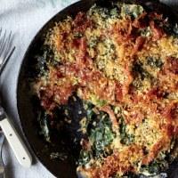 Gratin de chou pak choï au quinoa français
