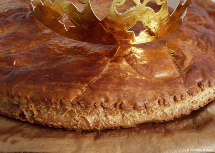Galette des rois aux noisettes, poires et pépites dechocolat