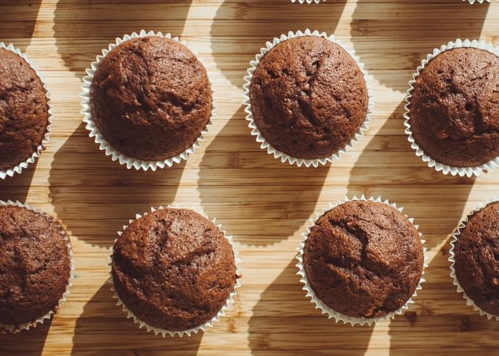 Muffins au chocolat et à la poudre denoisettes