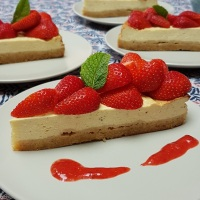 Cheesecake au fromage blanc et aux fruits rouges