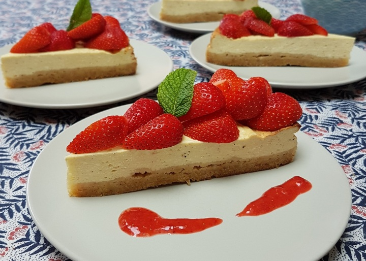Cheesecake au fromage blanc et aux fruitsrouges