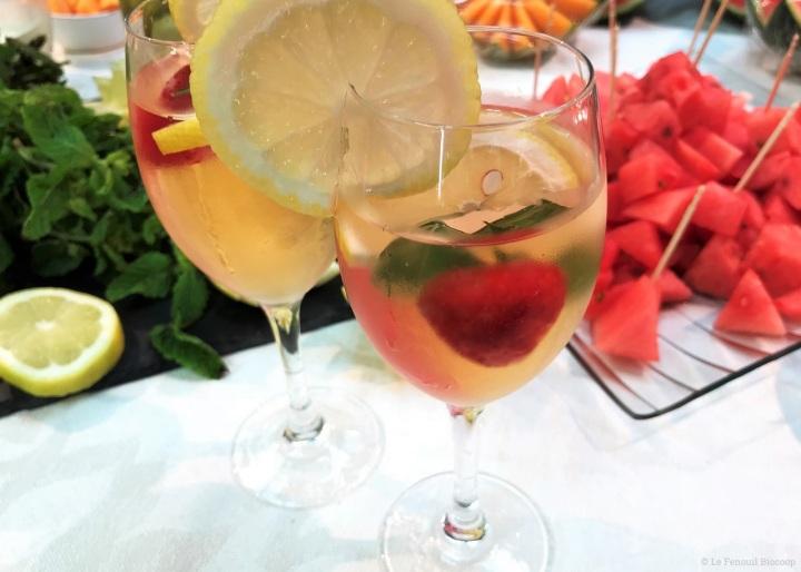 Eaux aromatisées aux fruits et auxplantes