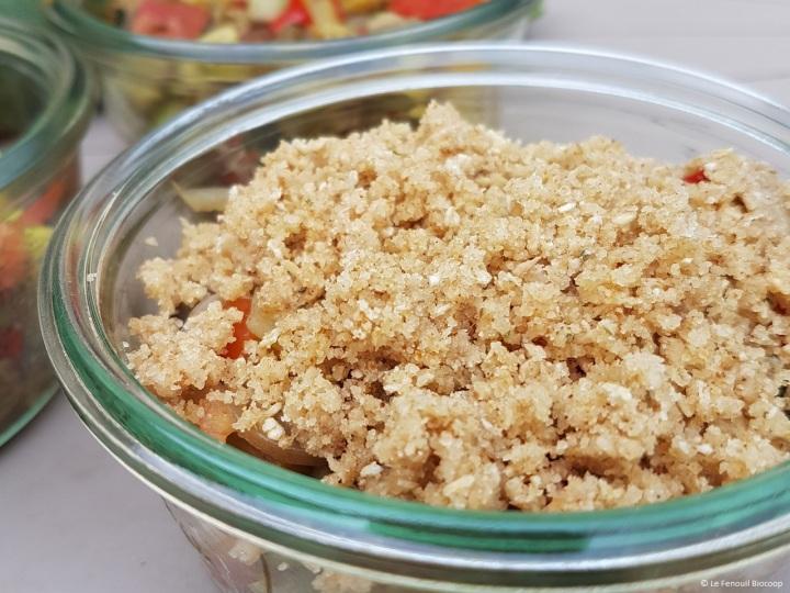 Crumble de légumes d'été au parmesan (sansgluten)