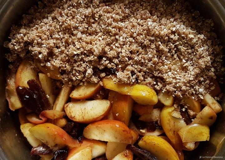 Crumble aux pommes et aux épices deNoël