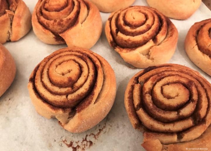 Roulés à la cannelle (cinnamon rolls oukanelbullar)