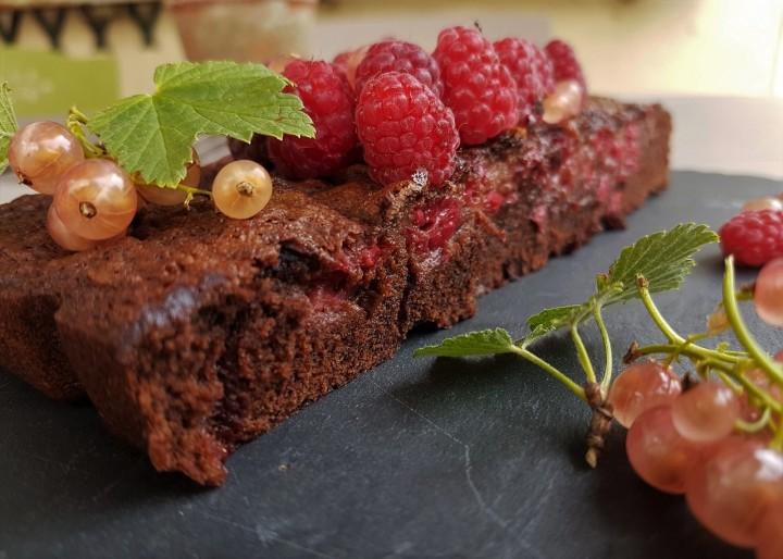 Fondant au chocolat et aux framboises (sanslait)