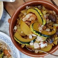 Tajine d'automne vegan aux coings et aux châtaignes
