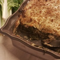Lasagnes végétariennes aux légumes d'automne et à la béchamel sans lait