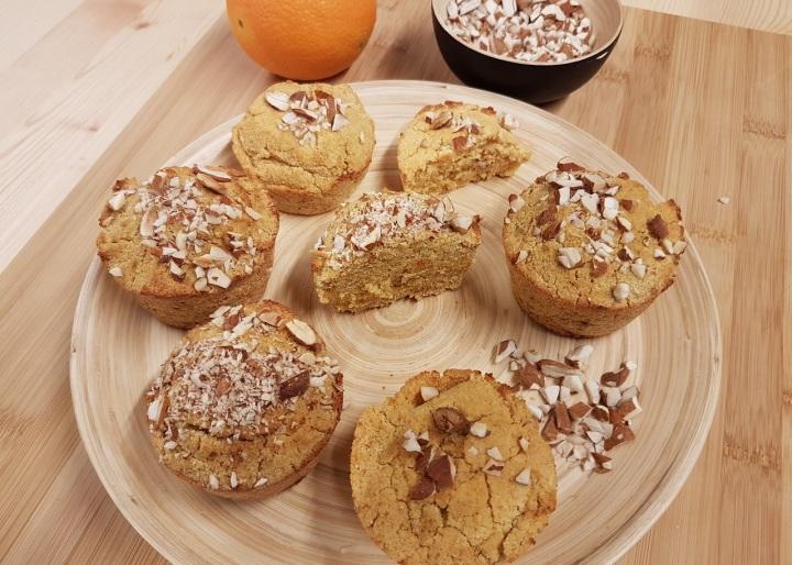 Muffins vegan à l'orange et à la polenta (sansgluten)