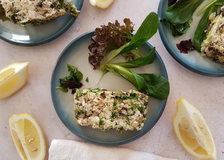 Terrine de poisson blanc aux algues dulse et laitue demer