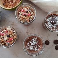 Crème dessert vegan au chocolat et à la noix de coco