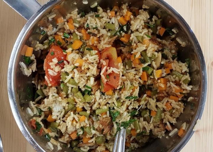 One-pot rice aux légumes de saison(vegan)